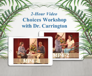 eft choices workshop video, mp4s, dr. patricia carrington, mp4 images with green plants and table