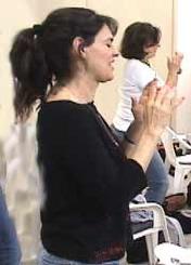 Women doing EFT tapping on finger spots