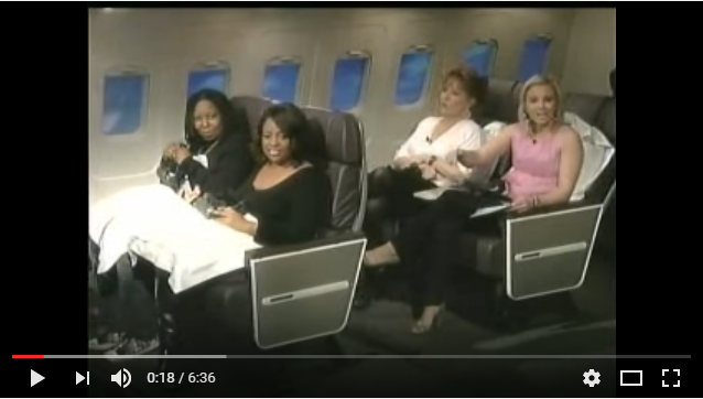 whoopie goldberg on a plane with cast of The View, using EFT / TFT