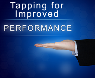 hand holding performance sign, tapping for improved performance