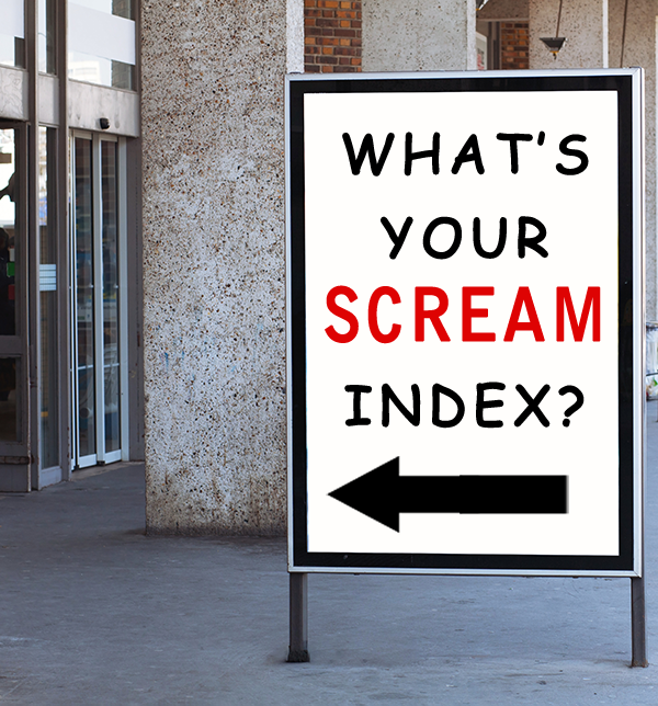 What's Your Scream Index sign